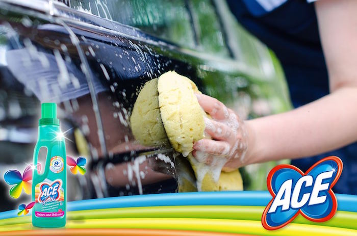 Cleaning a dirty car