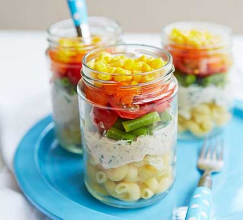 Help your little ones get their five a day with a colourful salad pot